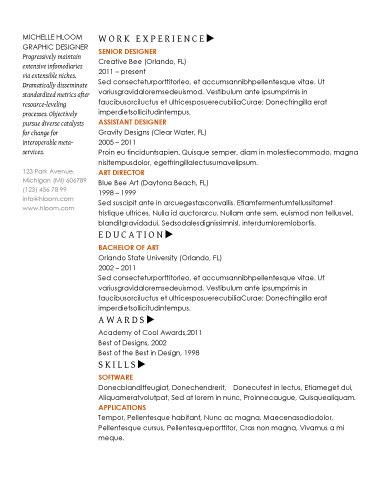 20款word格式的英文简历模板免费下载